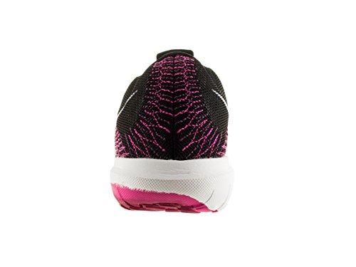 Flex Furia de los zapatos corrientes Black/White/Pink Foil/Sprt Fchs