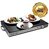 Megachef MCWT-9200 Electric Warming Tray with Adjustable Temperature Control, 24 in, Silver, Black