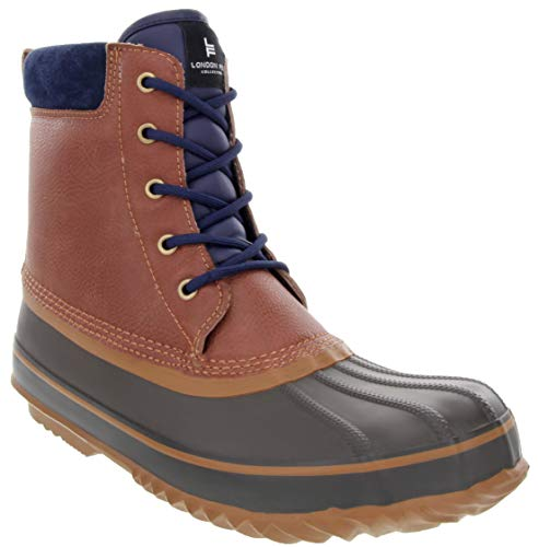 London Fog Mens Ashford Waterproof and Insulated Duck Boot Cognac 11 M US