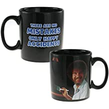 Mozlly Multipack - Surreal Entertainment Bob Ross Happy Accidents Heat Changing Ceramic Coffee Mug (Pack of 3)