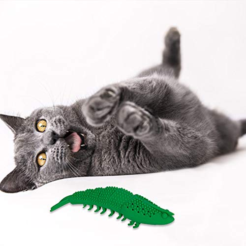BKpearl 2 Pcs Interactive Cat Toys Catnip Toys Cat Toothbrush Chew Toys, Crayfish Shape Pet Toy Teeth Cleaning Chew Toy for Kitten Kitty Cats Teeth Cleaning 8