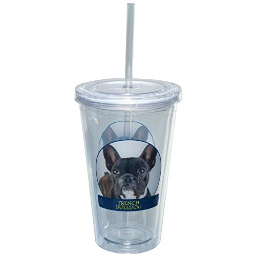 French Bulldog Portait Plastic Pint Cup With (French Bulldog Lion Costume)