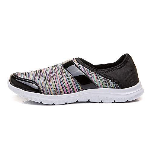 Goldencar Women's Running Breathable Fashion Women's Fashion Running Shoes Women's Loafers Black 9.5 M US