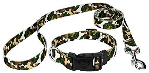 - Country Brook Petz | Woodland Bone Camo Deluxe Dog Collar & Leash - Medium
