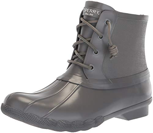 - SPERRY Women's Saltwater Rubber Flooded Rain Boot, Dark Grey, 9 M US