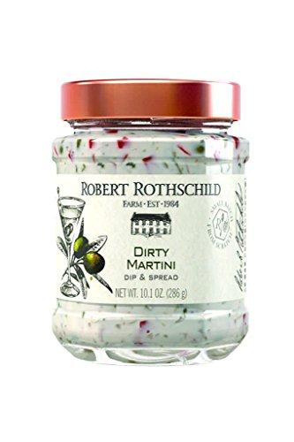 Robert Rothschild Farm Dirty Martini Dip (10.1 oz) - Dip & Spread - Cracker and Vegetable Dip - Sandwich Spread -