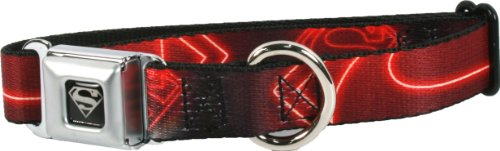 Seatbelt Dog Collar (Superman Neon Logo, Medium)