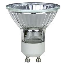 Sunlite 50MR16/GU10/NFL/120V 50-Watt Halogen MR16 GU10 Based Mini Reflector Bulb, Cover Guard