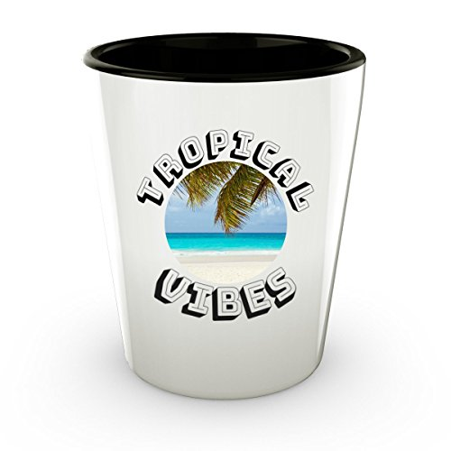 Tropical Beach Cayman Islands Shot Glass - Paradise - Cute Gift - Perfect Gift & Souvenir For Birthday, Christmass, Men, Women,
