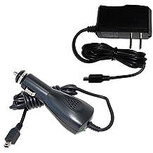 HQRP Kit Car Charger + AC Power Adapter for Garmin d?zl 560LMT / 570LMT / 760LMT / 770LMTHD / d?zlCam LMTHD plus HQRP Euro Plug Adapter