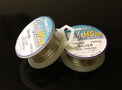 - Silver Plated Non Tarnish Wire 20 Ga. 2 Spools 6 Yard Each Craft Wire