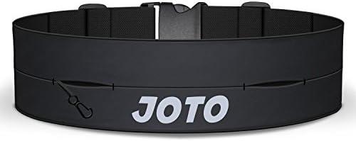 JOTO FIT-BELT-Black - Cinturón de Correr para Entrenamiento Ciclismo Senderismo, Unisex, Negro