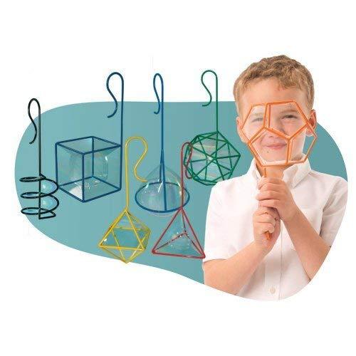 Geometric Bubble - FEWW Education F66529 Geometric Bubble Wands, Kindergarten Grade to 3 Grade