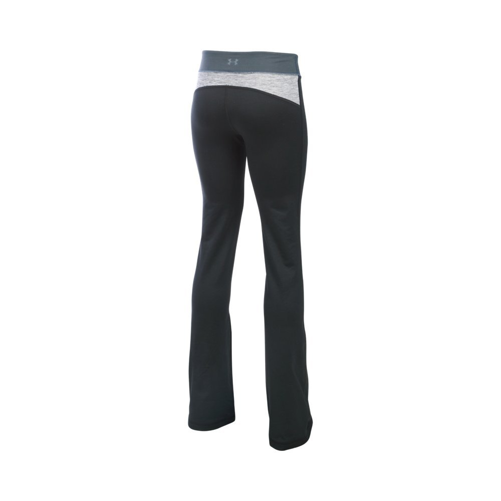 Under Armour Girls' Finale Studio Pants, Black/True Gray Heather, Youth X-Small by Under Armour