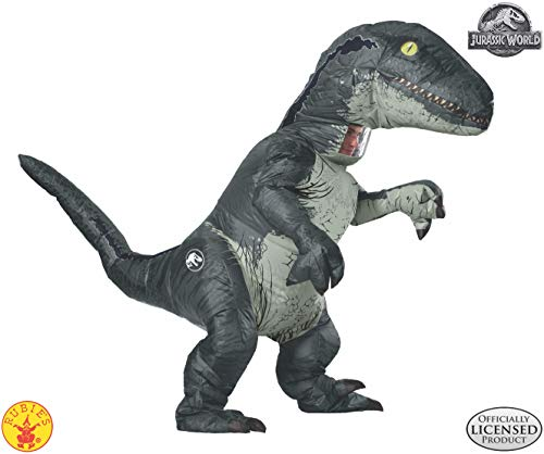 Make Your Own Male Halloween Costume (Rubie's Adult Official Jurassic World Inflatable Dinosaur Costume, Velociraptor,)