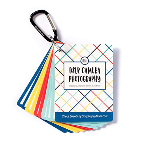 DSLR Cheat Sheet Cards for Canon, Nikon and Sony Cameras - Plastic Quick Reference Photography Cards | Camera Settings, Exposure & Manual Mode | Snap Happy Mom from Snap Happy Mom