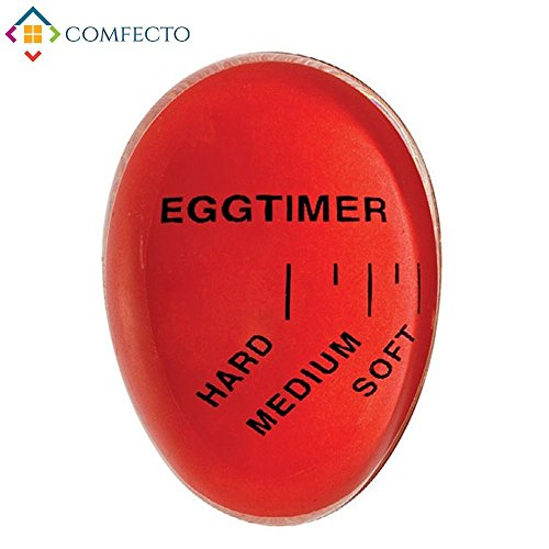 Pop Egg Timer | Innovative Color Changing Egg Timer | Brilliantly Gauge Soft/Medium/Hard Boiled Eggs | Premium Nontoxic Heat-resistant Resin Material | Handwash Cleaning | Red | 943 (Changing Egg Timer)
