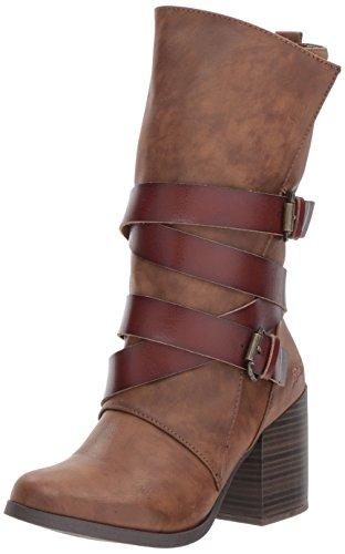 Brown Calf Mid Boots (Blowfish Women's Dahl Harness Boot, Whiskey Lonestar PU/Dyecut PU, 8 M US)