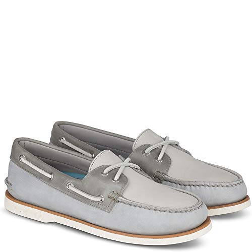 Sperry Top-Sider Gold Cup Authentic Original Pastel Boat Shoe Men 7 Grey/Light Grey from SPERRY