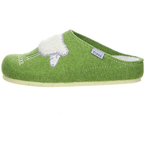 Damen 74-s395 Pantoffeln Wool is Cool, Grün (Grün), 36 EU Tofee