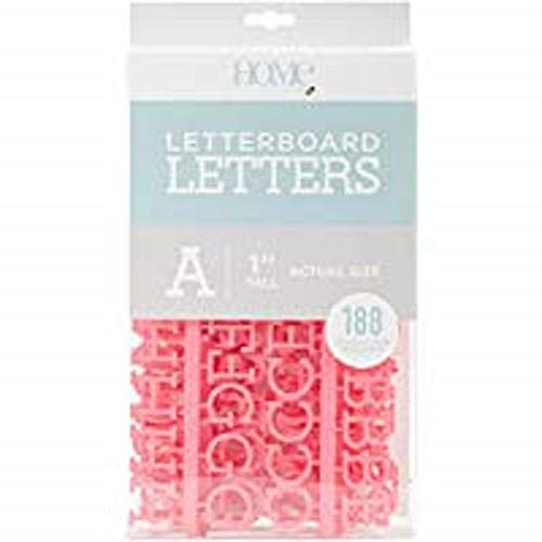 American Crafts 188 Piece 1 Inch Letter Pack Die Cuts with a View Letterboards, 1