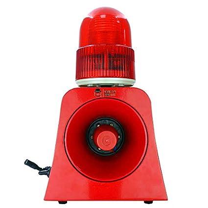 HERCHR Luz estroboscópica de Advertencia LED roja para ...