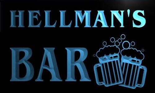 w006924-b-hellmans-name-home-bar-pub-beer-mugs-cheers-neon-light-sign