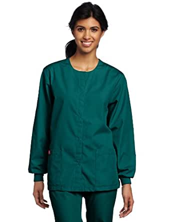 Dickies Scrubs Women's Warm Up Jacket, Hunter, 4X-Large