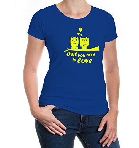 buXsbaum® Girlie T-Shirt owl you need is love Royal