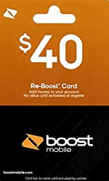 Boost Mobile $40 Gift Card