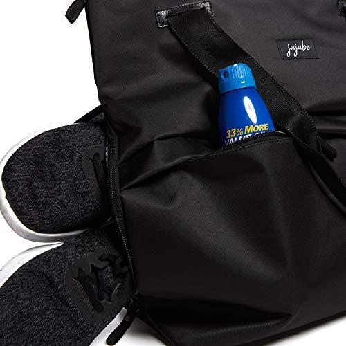 JuJuBe All Purpose Shoulder Tote Bag | Black | Durable Waterproof Travel Bag with Exteriors & Interior Pockets, Lightweight Machine Washable Shoulder Bag, Gym Bag, Beach Bag or Diaper Bag