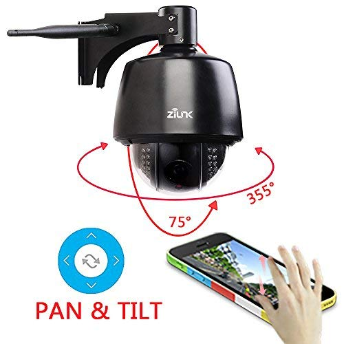 ZILINK Security Camera Outdoor, 2MP WiFi Wireless Camera for Home Security System with 100ft Night Vision, IP65 Waterproof, Pan/Tilt/Zoom, Motion Detection and Remote View, 32G TF Card Preinstalled