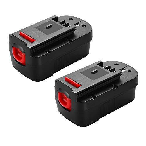 2x Murllen 3800mAh Replacement Battery for Black&Decker 18V HPB18 HPB18-OPE 244760-00 FS18FL FSB18 Firestorm Power Tool