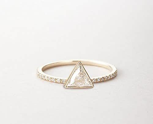 Amazon.com: 0.3 carat Trillion Diamond ring, Triangle