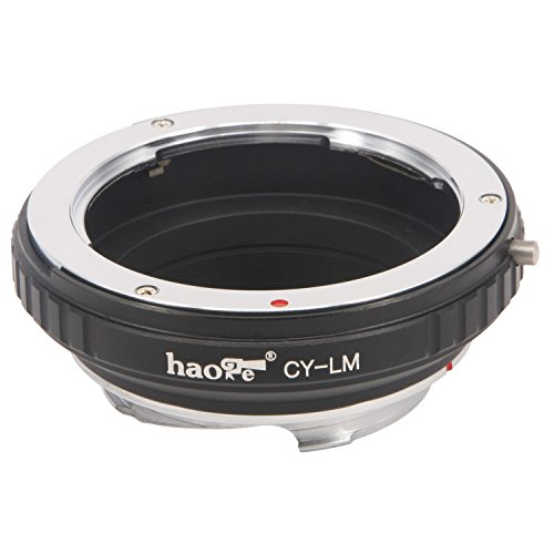 Haoge Lens Mount Adapter for Contax/Yashica C/Y CY Lens to Leica M LM Mount Camera Such as M240, M240P, M262, M3, M2, M1, M4, M5, M6, MP, M7, M8, M9, M9-P, M Monochrom, M-E, M, M-P, M10, M-A