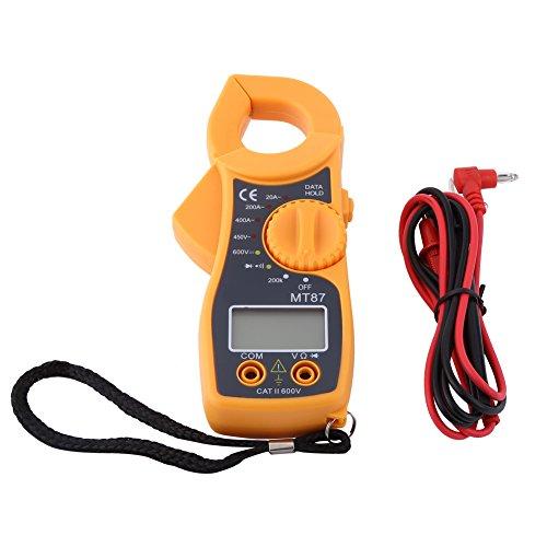 Digital Clamp Multimeter Measuring AC/DC Voltage Pocket Auto Ranging Multi Tester Voltmeter Ammeter Ohmmeter Resistance Diodes Transistor Audible Continuity Tester with Backlit LCD