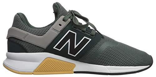 New Balance Men's 247 V2 Sneaker, Faded Rosin/Black, 4 D US