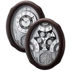 Rhythm Clocks Glory Espresso Magic Motion Clock