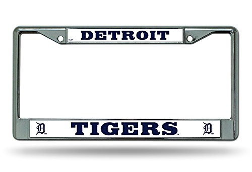 (Detroit Tigers NEW DESIGN Metal Chrome License Plate Tag Frame Cover Baseball)