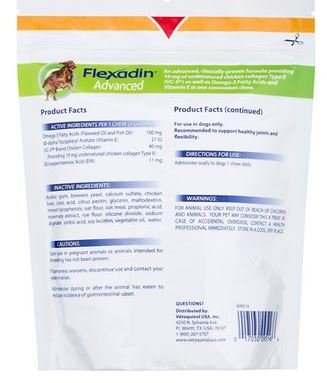 Amazon.com : Flexadin Advanced Chews UCII 60 Chews by Vetoquinol : Pet Supplies