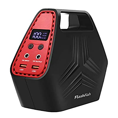 Flashfish Portable Generator Power Outage Station Supply for CPAP Camera Laptop, Camping Power Bank Pack Recharged by Solar Panel/Wall Outlet/Car