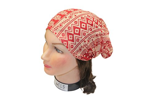 Wrap Embroidery (Jewels Fashion Boho Solid Multi Embroidery Headbands/Head Wrap/Yoga Headband/Head Sarf/Best Looking Head Band For Sports or Fashion, or Exercise (Red))