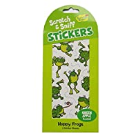 Peaceable Kingdom Scratch & Sniff Green Apple Scented Frog Sticker Packs