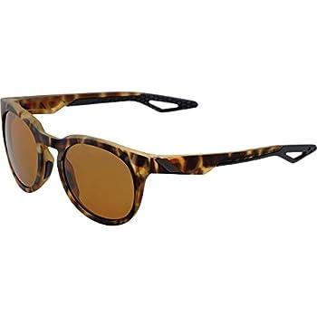 Image of 100% Unisex-Adult's Speedlab (61026-089-49) Campo - Soft Tact Havana - Bronze PEAKPOLAR Lens, Free Size, Sunglasses