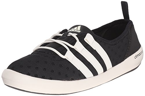 adidas Outdoor Women's Climacool Boat Sleek Water Shoe, Black/Chalk White/Black, 8 M US