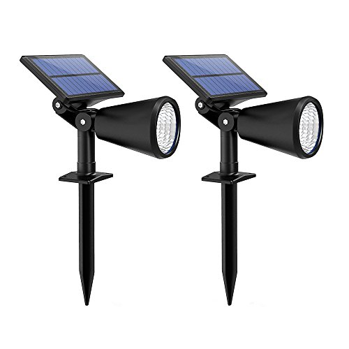 Mpow 2-Pack Solar Spotlight Landscape Lights Ou...