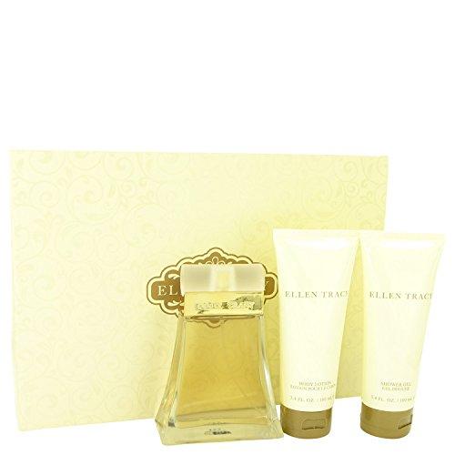 Ellen Tracy By ELLEN TRACY FOR WOMEN Gift Set - 3.4 oz Eau De Parfum Spray + 3.4 oz Body Lotion + 3.4 oz Shower Gel
