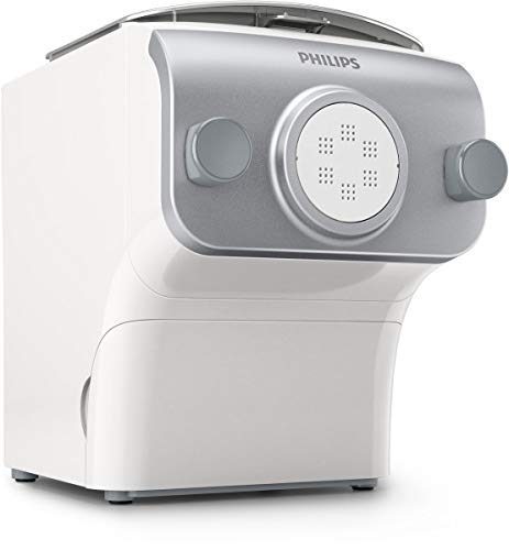 Philips Automatic Pasta & Noodle Maker with Interchangeable Pasta Shaping Discs (Renewed) (White, Plus w/ 4…