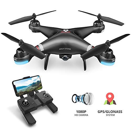 Holy Stone HS110G GPS FPV Drone with 1080P HD Live Video Camera for Adults and Kids, RC Quadcopter with GPS Auto Return Home, Auto Hover and Follow Me Mode, Long Flight Time, Easy to Fly for Beginners (Best Quadcopter With Camera Under 200)