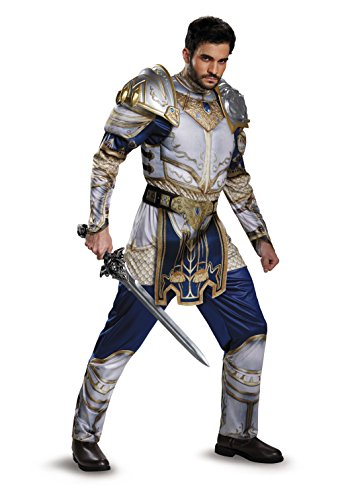 Disguise Men's Warcraft King Llane Muscle Adult Costume with Dragon Sword, Multi, Medium (King Costumes Adults)